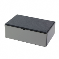 Dulwich Designs 73070 Boutique Smoked Glass Glitter Medium Jewellery Box
